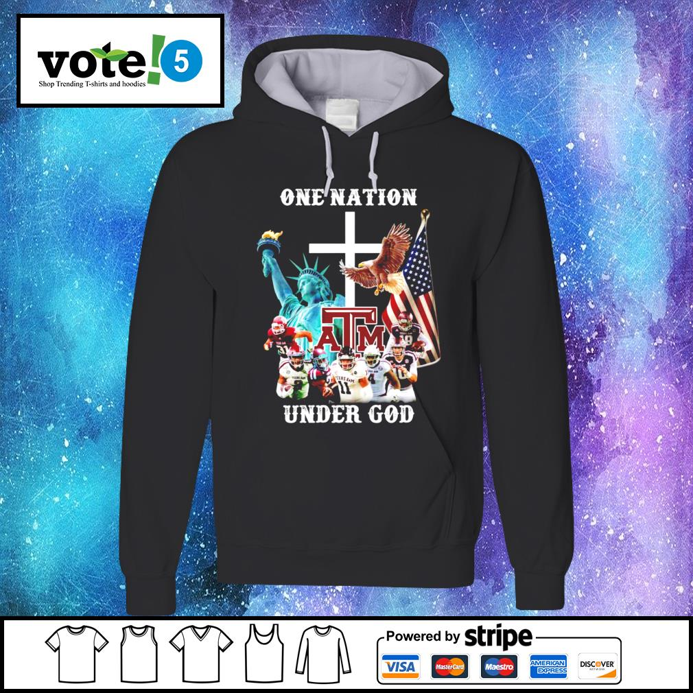 One nation Texas A&M under god Hoodie