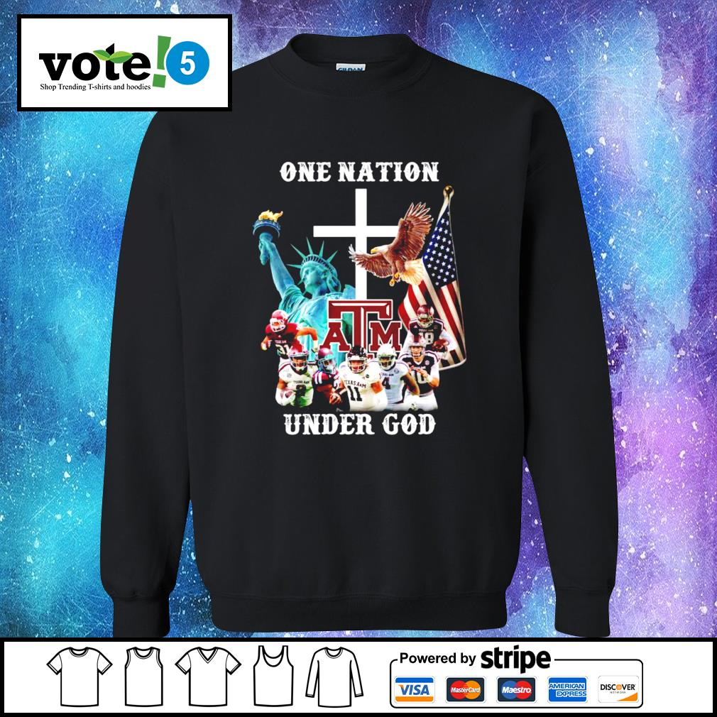 One nation Texas A&M under god Sweater