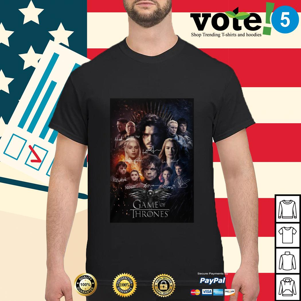 Game of Thrones signature poster shirt