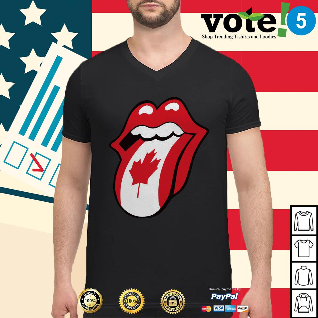 The Rolling Stones Canadian flag Guys shirt