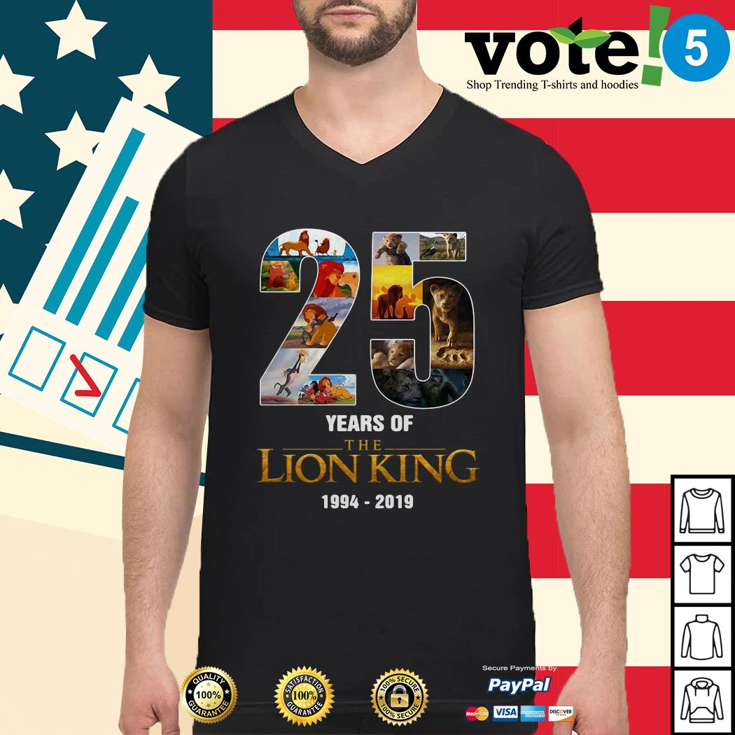 25 Years of The Lion King 1994-2019 Guys shirt