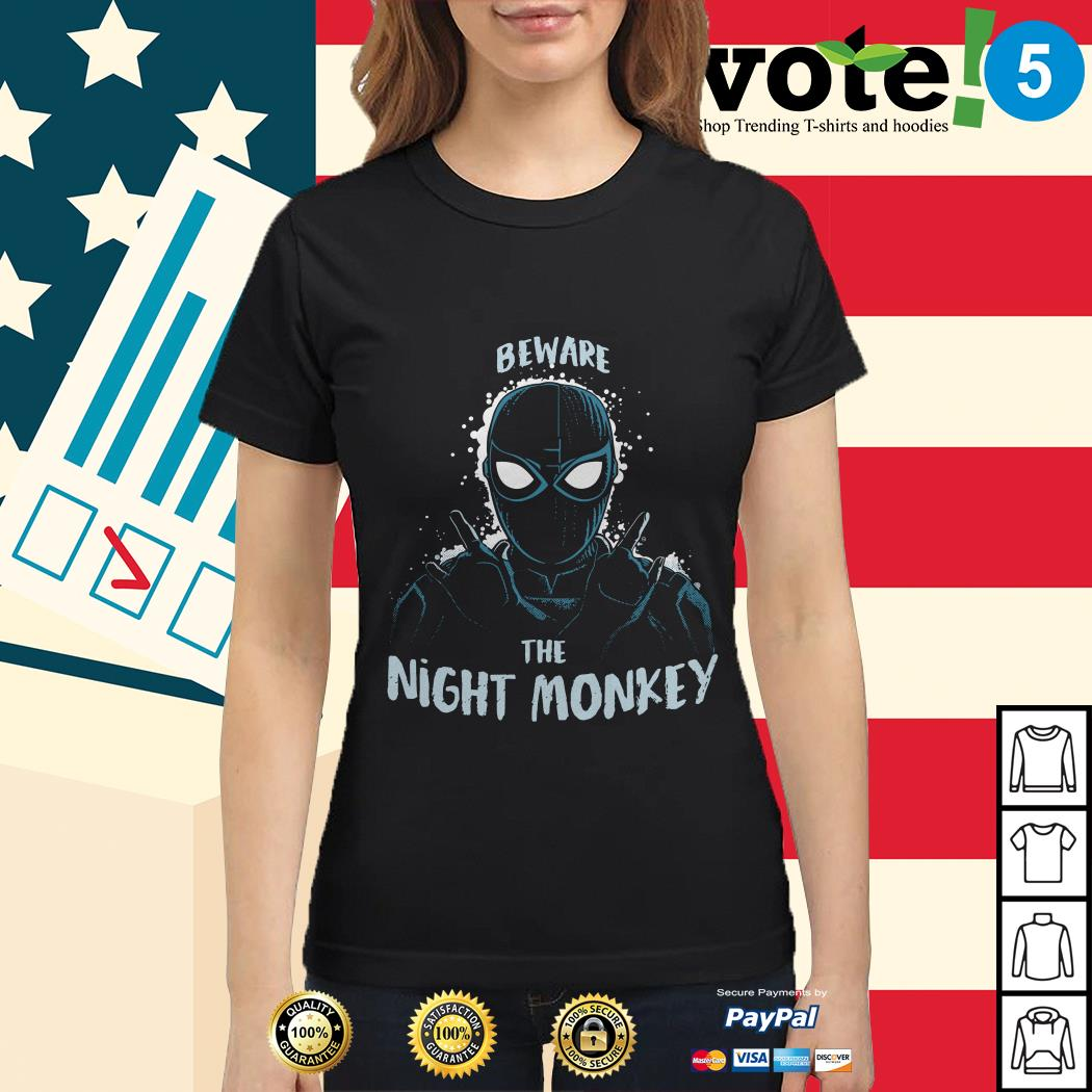 Beware the night monkey Spider-Man far from home Ladies tee