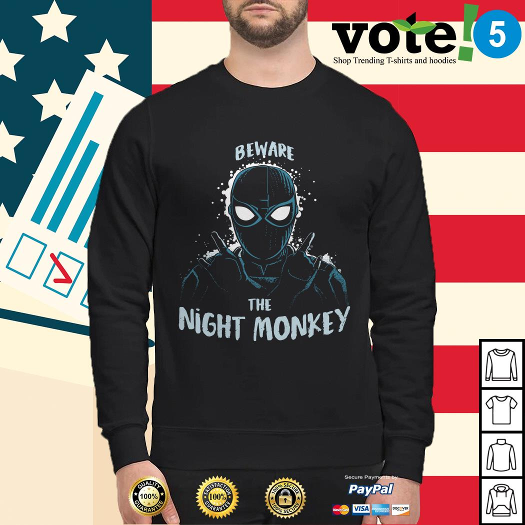 Beware the night monkey Spider-Man far from home Sweater