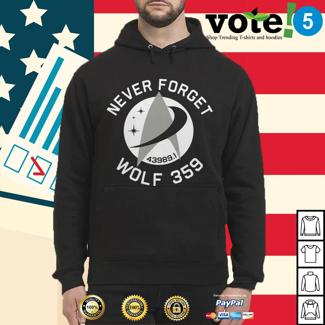 Never forget 43989 Wolf 359 Hoodie