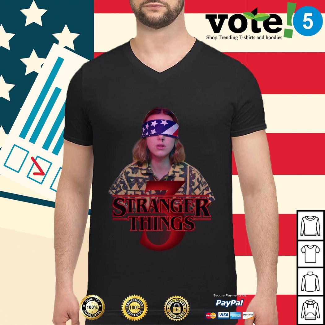 Stranger Things 3 Eleven 4th of July independence day Guys shirt