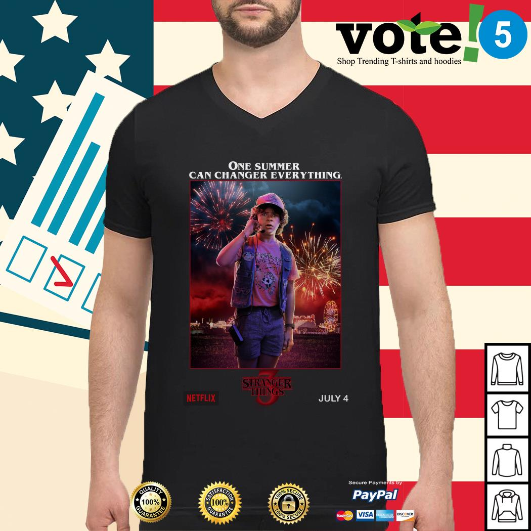 Stranger Things season 3 Dustin One Summer Can Change Everything Guys shirt