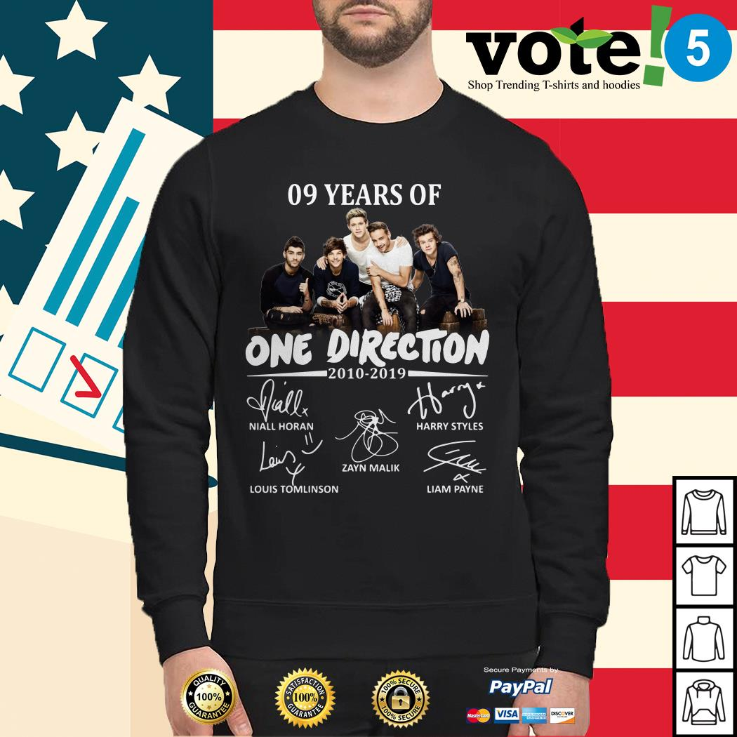 09 Years of One Direction 2010-2019 signatures Sweater