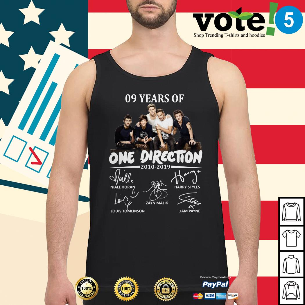 09 Years of One Direction 2010-2019 signatures Tank top