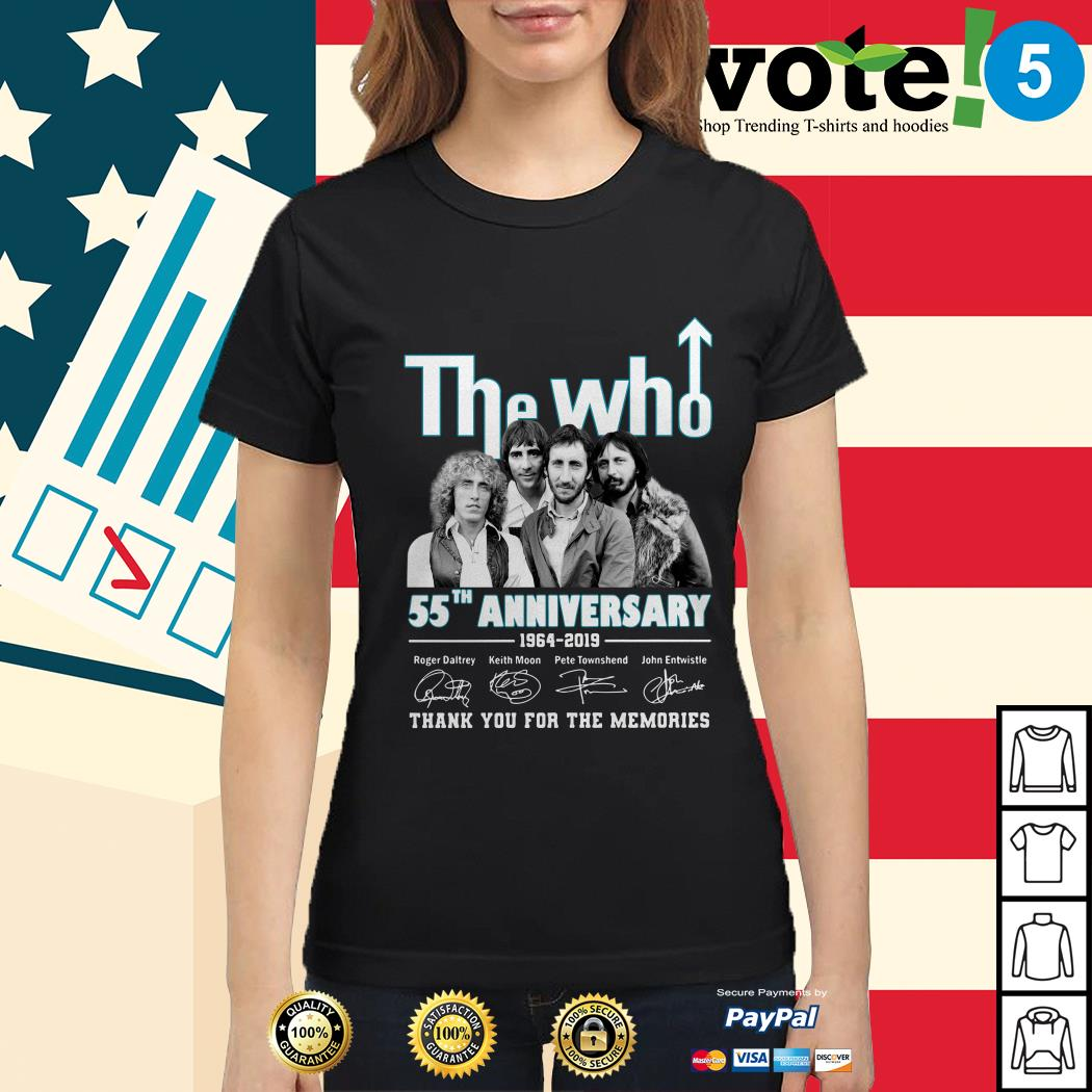 The Who 55th anniversary 1964-2019 thank you for the memories Ladies tee