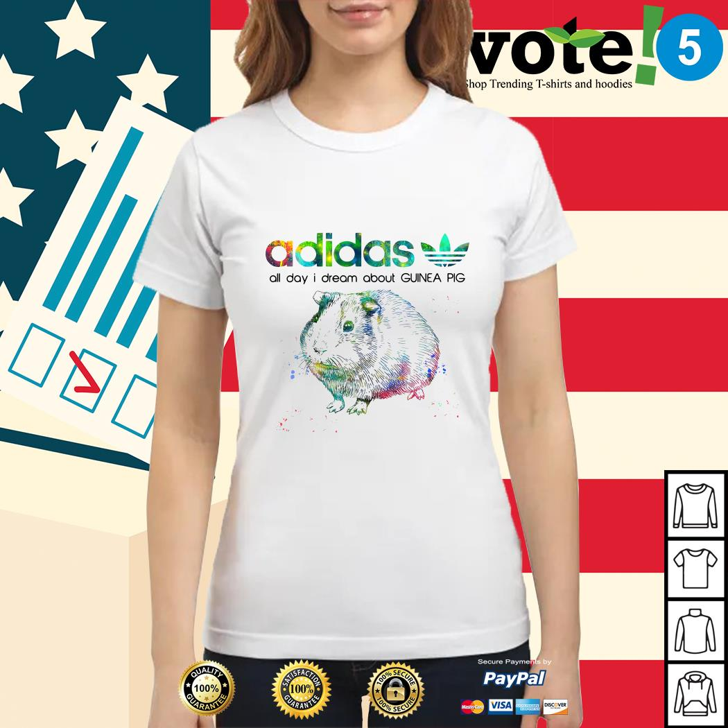 Adidas all day I dream about guinea pig Ladies tee