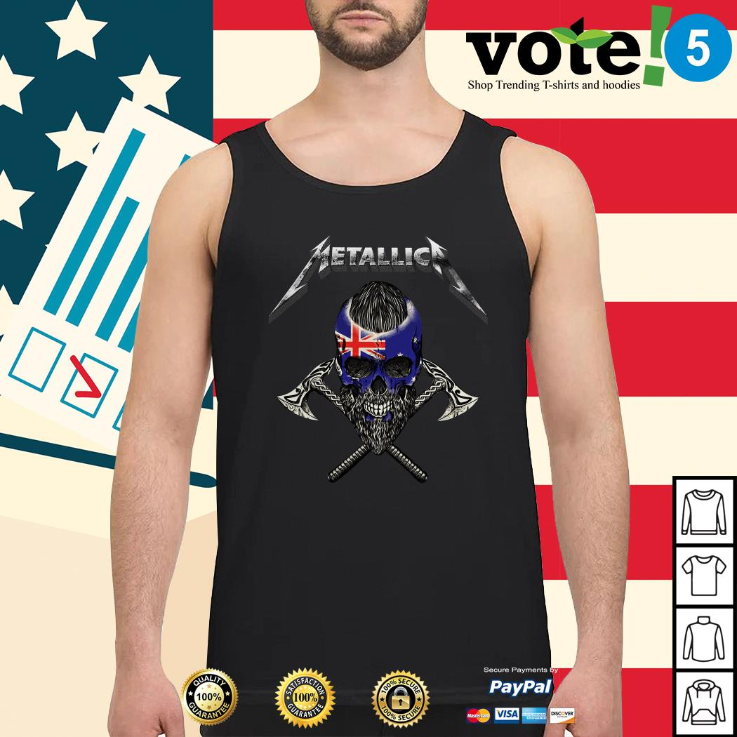 Metallica Viking skull Australia flag Tank top