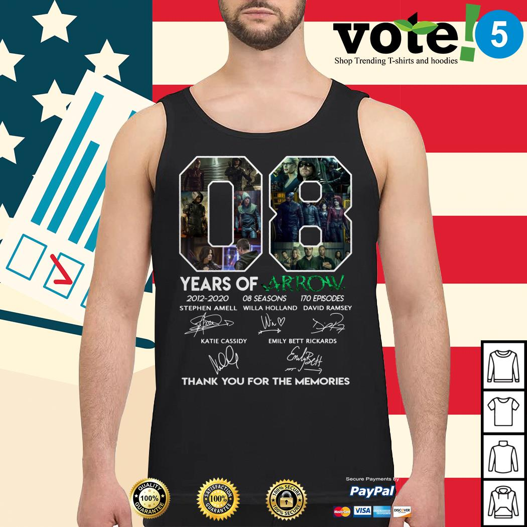 08 years of Arrow 2012-2020 08 seasons 170 episodes signatures Tank top