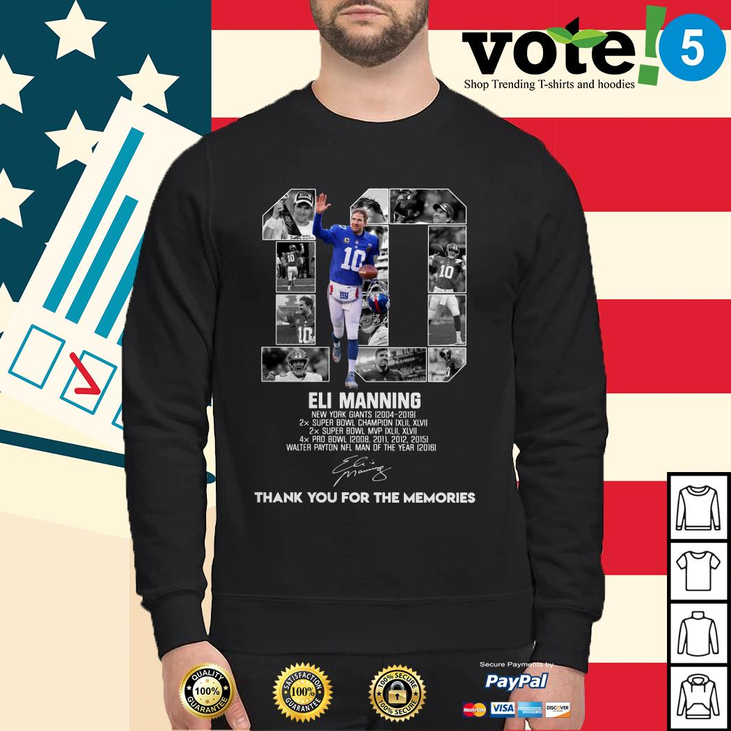 10 Eli Manning New York Giants 2004-2019 thank you for the memories Sweater