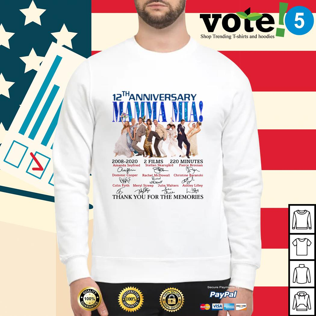 12th anniversary Mamma Mia thank you for the memories Sweater