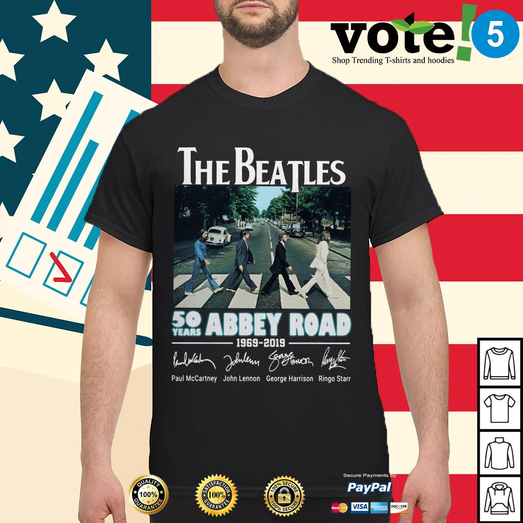 The Beatles 50 years Abbey Road 1969-2019 signature shirt