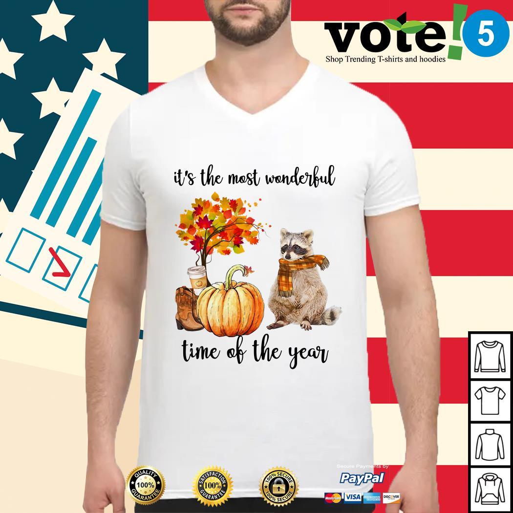 Raccoon it's the most wonderful time of the year Guys shirt