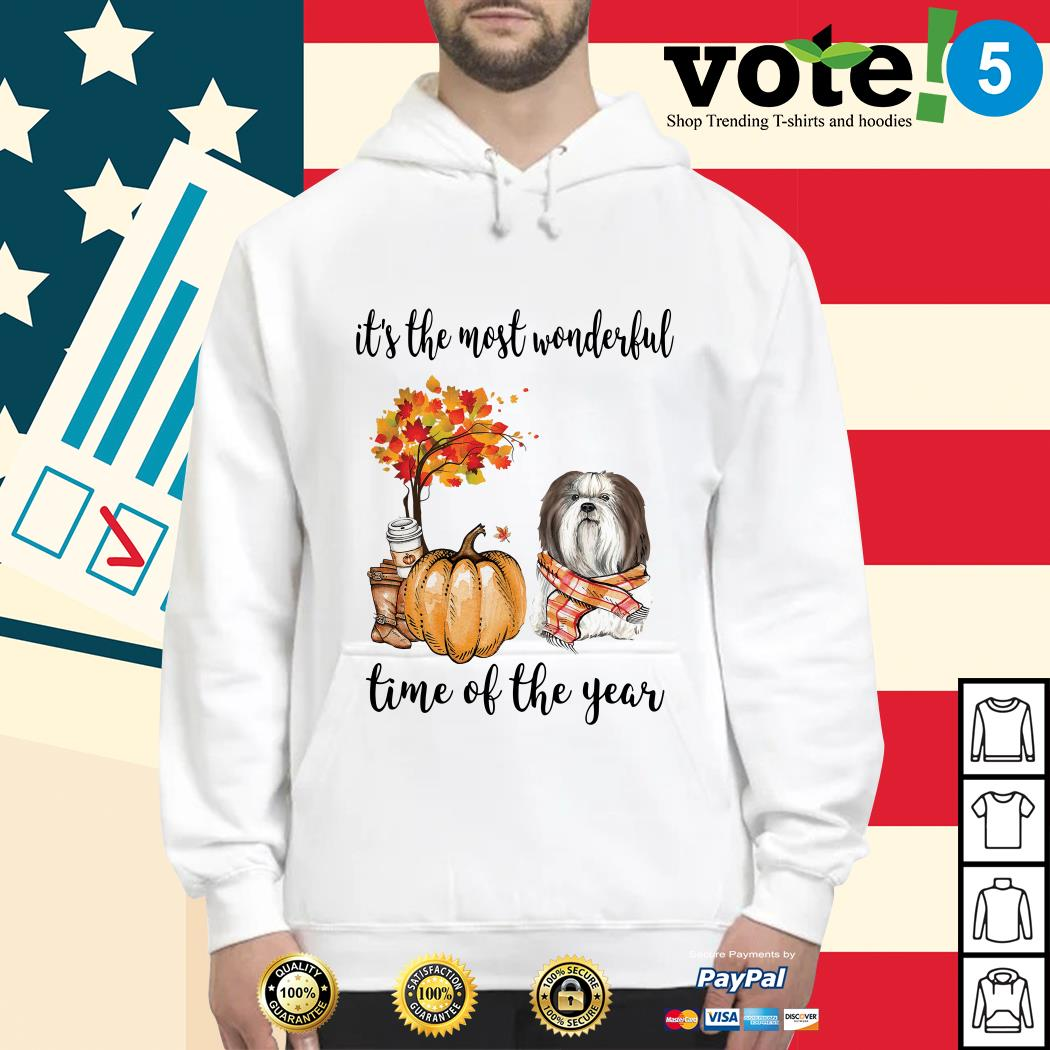Shih Tzu it's the most wonderful time of the year Hoodie