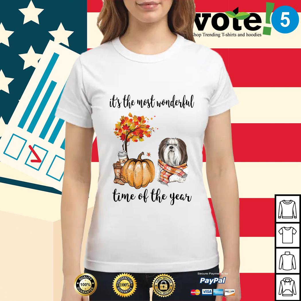Shih Tzu it's the most wonderful time of the year Ladies tee