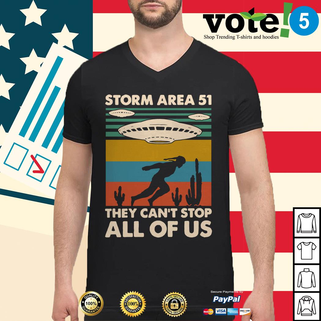 Storm area 51 they can't stop all of us vintage Guys shirt