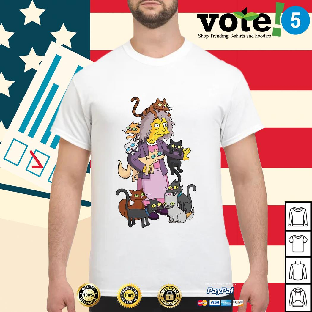 The Simpsons the crazy cat lady shirt