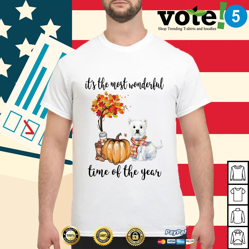Westie it's the most wonderful time of the year shirt