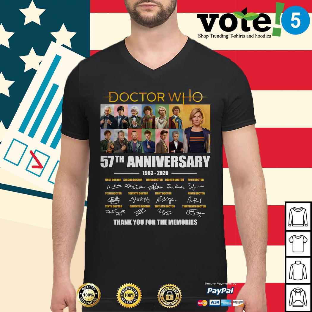 Doctor Who 57th anniversary thank you for the memories Guys shirt
