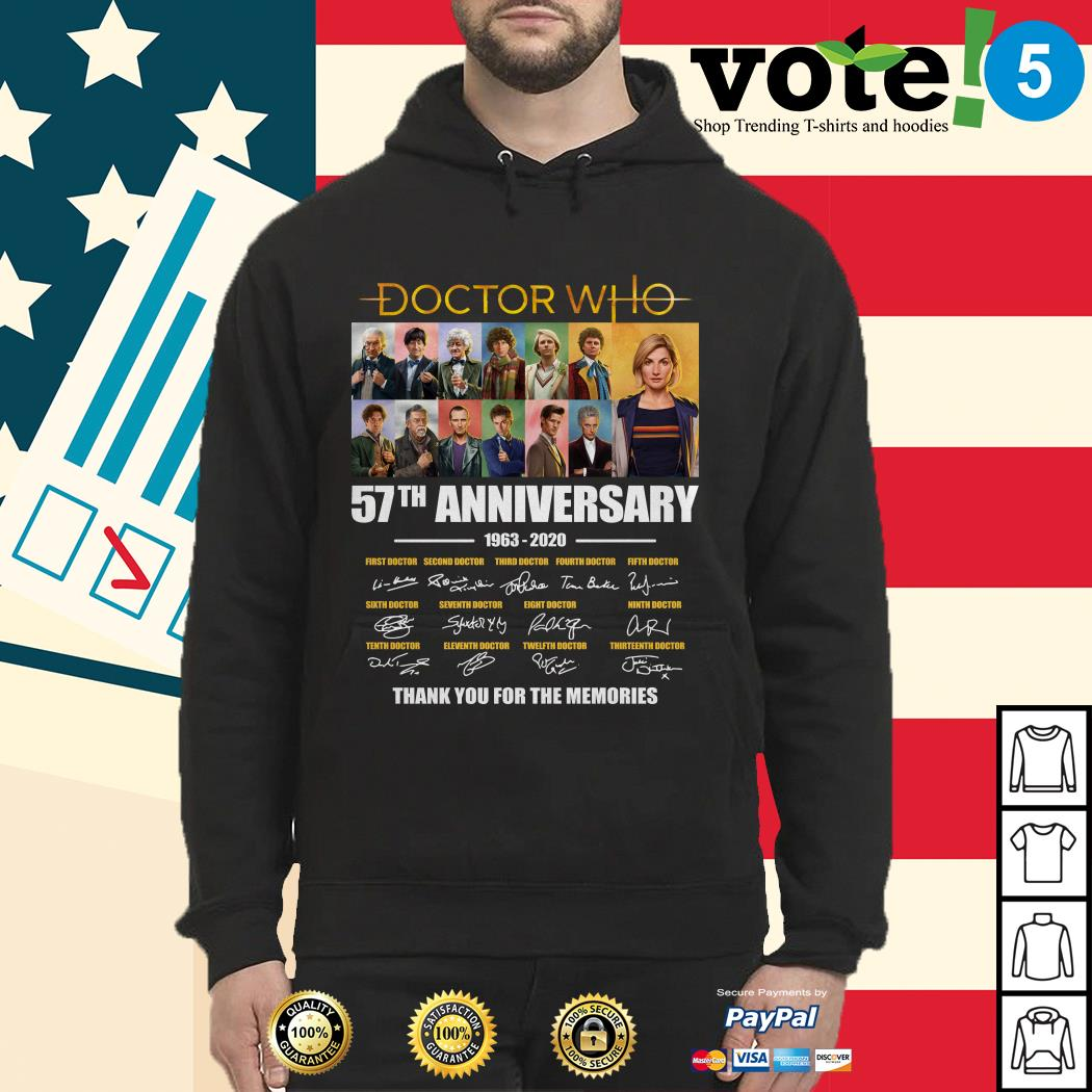 Doctor Who 57th anniversary thank you for the memories Hoodie