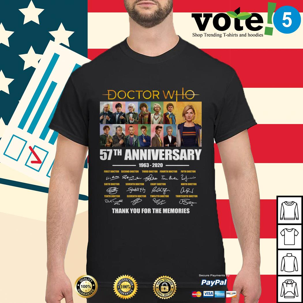 Doctor Who 57th anniversary thank you for the memories shirt
