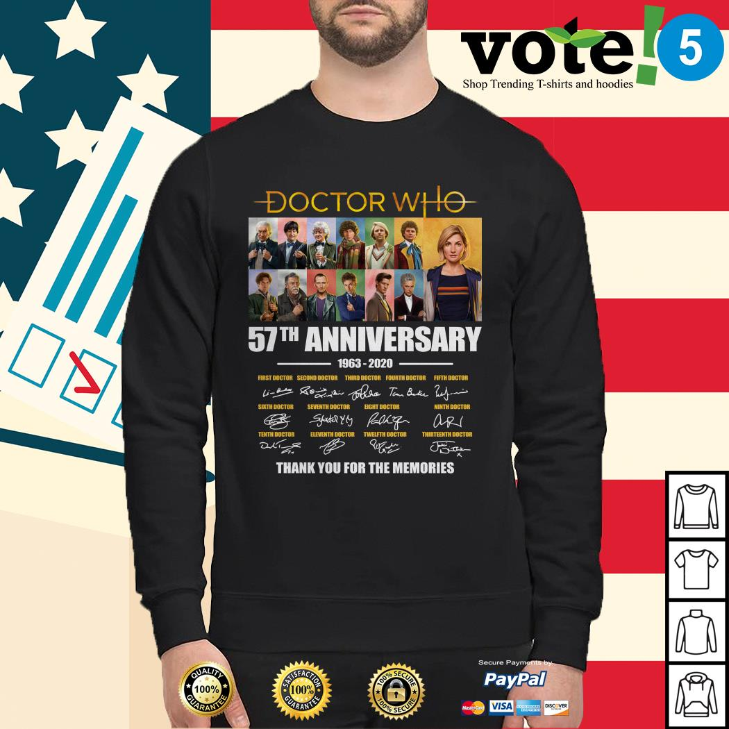 Doctor Who 57th anniversary thank you for the memories Sweater