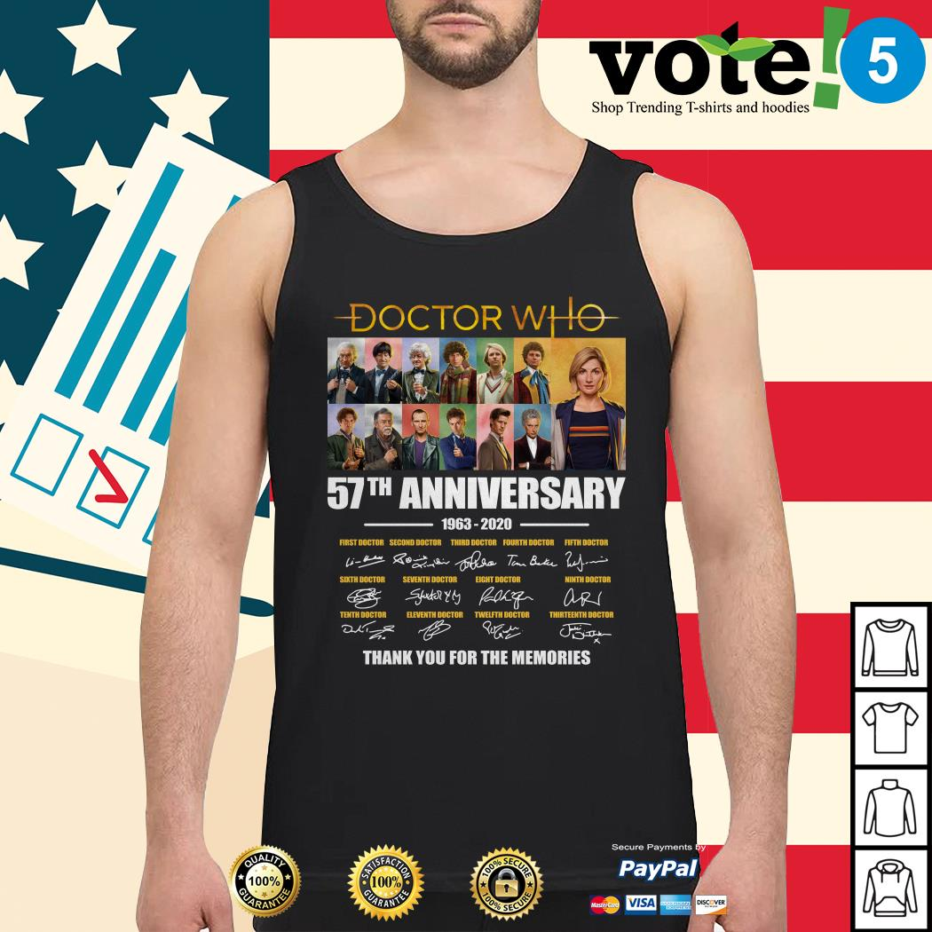 Doctor Who 57th anniversary thank you for the memories Tank top