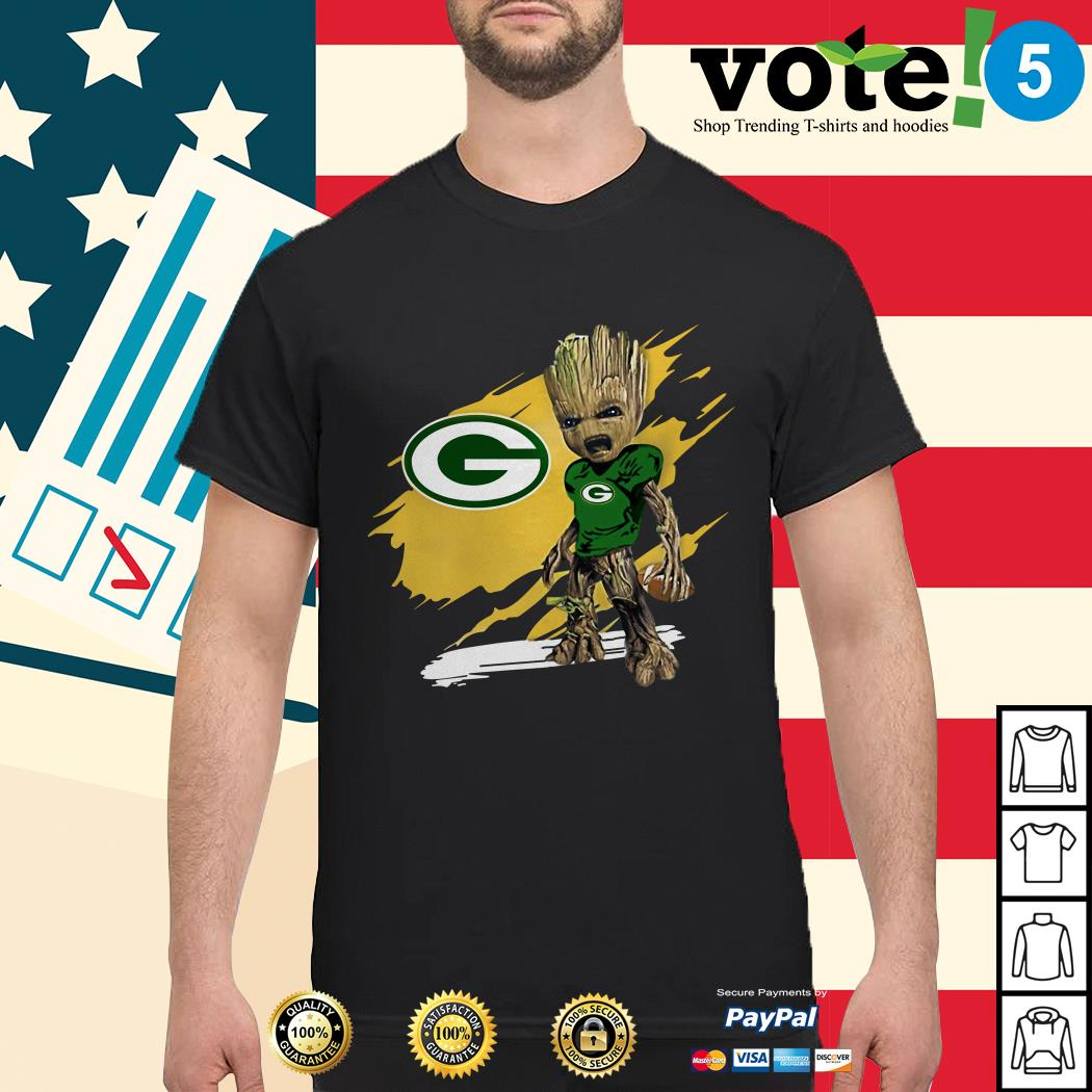 Green Bay Packers baby Groot shirt