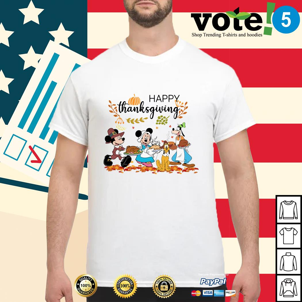 Official Disney happy thanksgiving shirt