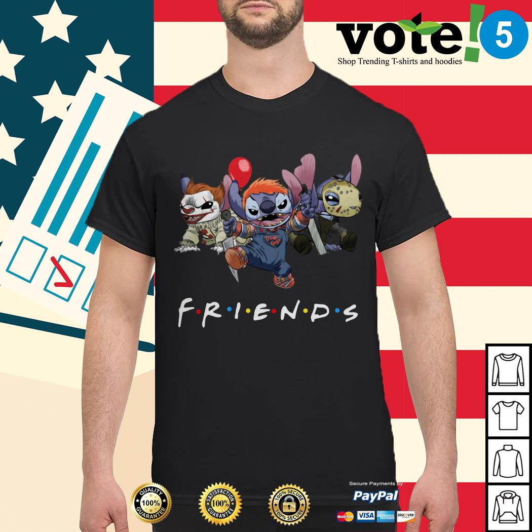 Stitch Pennywise Chucky Jason Voorhees Friends tv show shirt