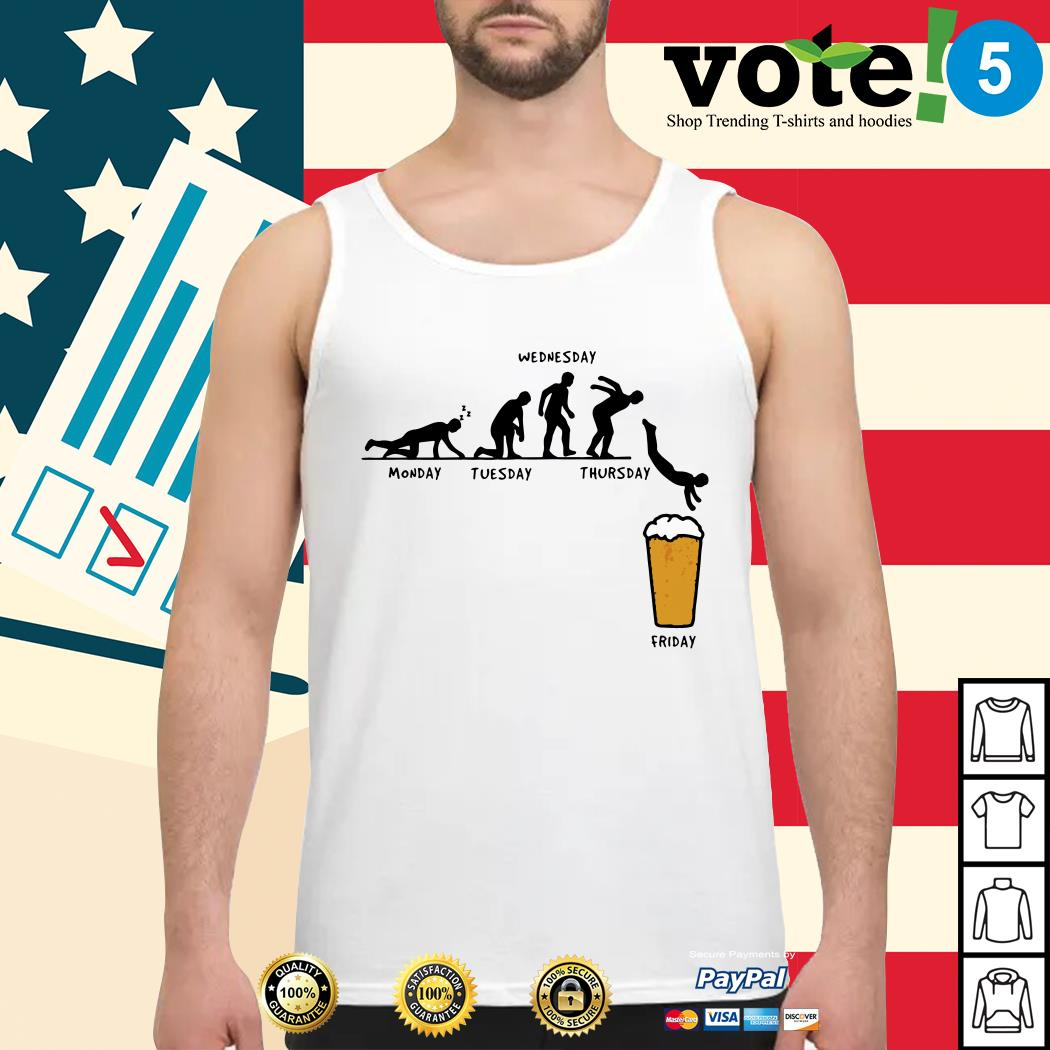 Beer Monday Tuesday Wednesday Thursday Friday Tank top
