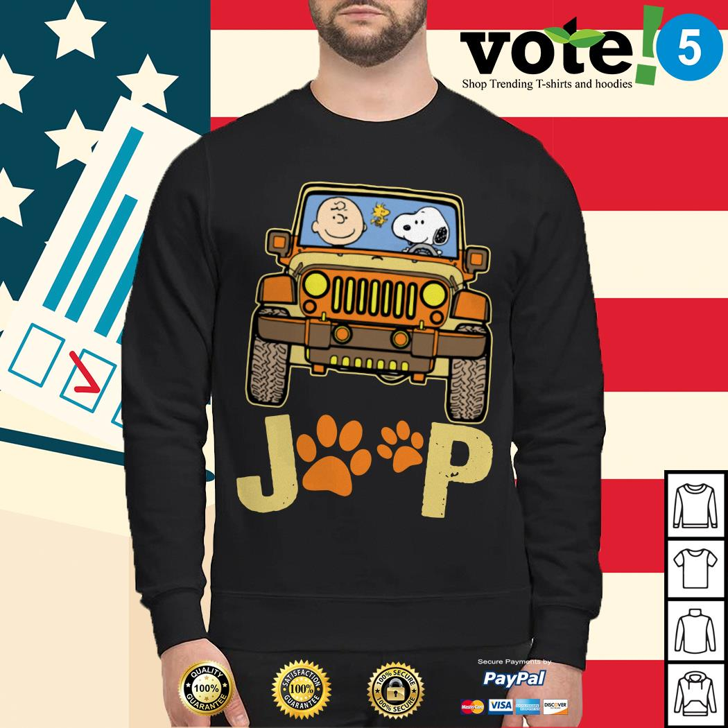 Charlie Brown and Snoopy Jeep paw dog Sweater