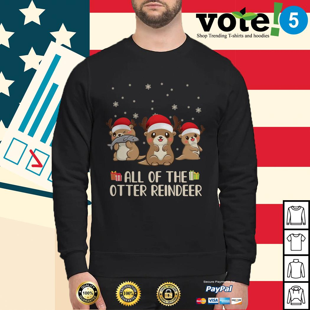 Christmas all of the otter reindeer Sweater, sweater