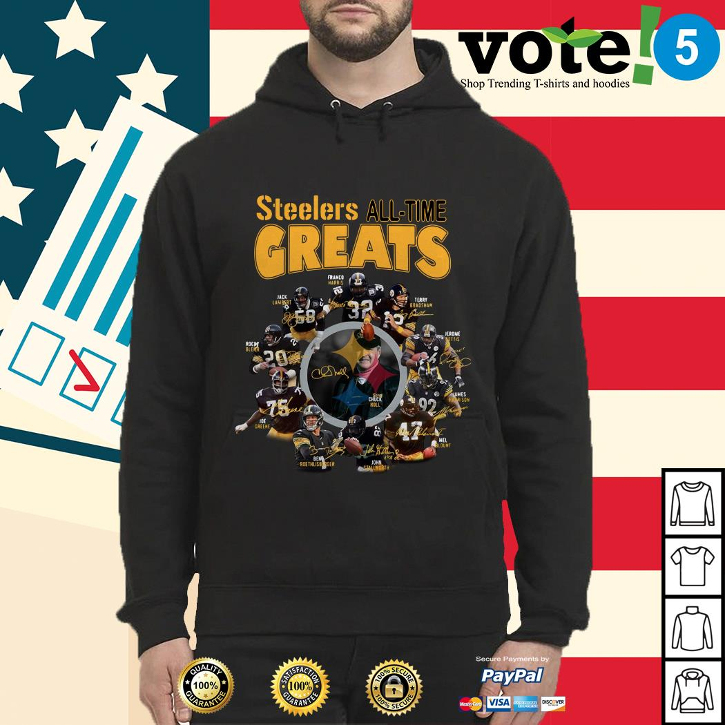 Pittsburgh Steelers all-time greats players signatures Hoodie