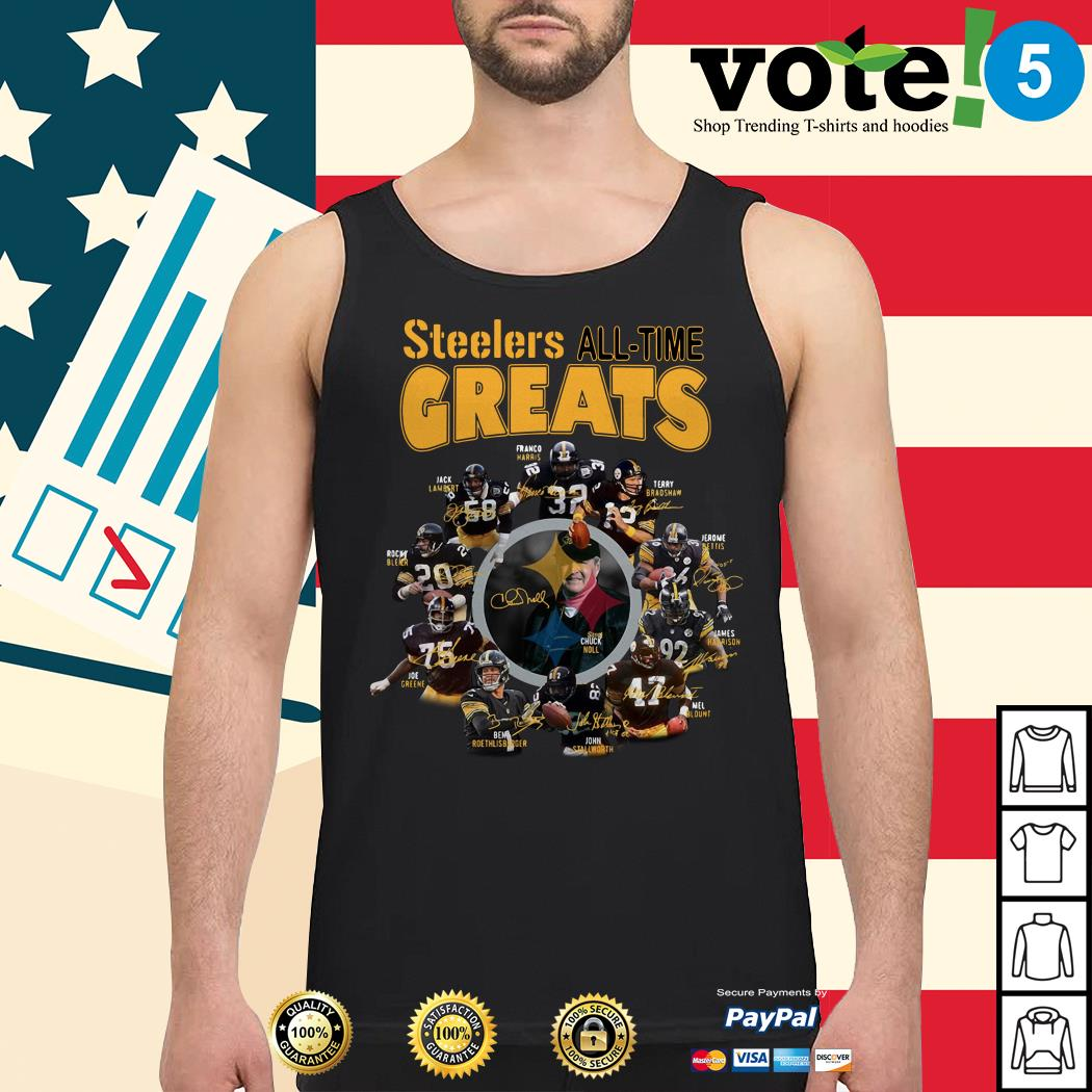 Pittsburgh Steelers all-time greats players signatures Tank top