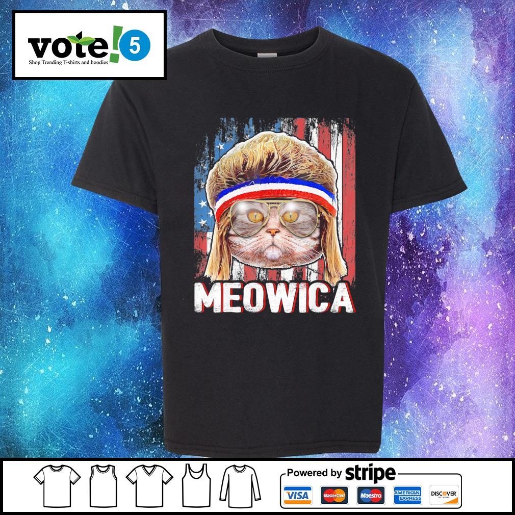 Cat Meowica flag American s Kid-T-shirt