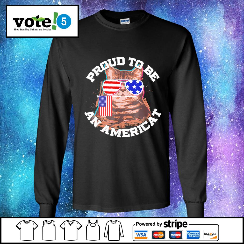 Cat proud to be an Americat s Long-Sleeves-Tee