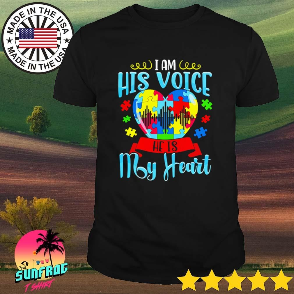 LGBT Autism I am his voice he is my heart shirt