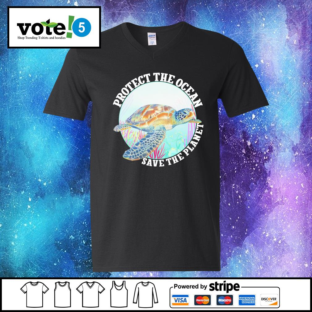 Protect the ocean save the planet s V-neck-T-shirt