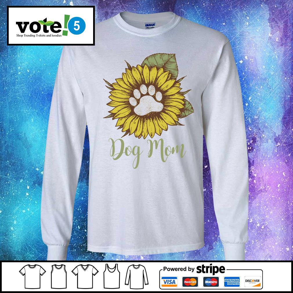 Sunflower dog mom s Long-Sleeves-Tee