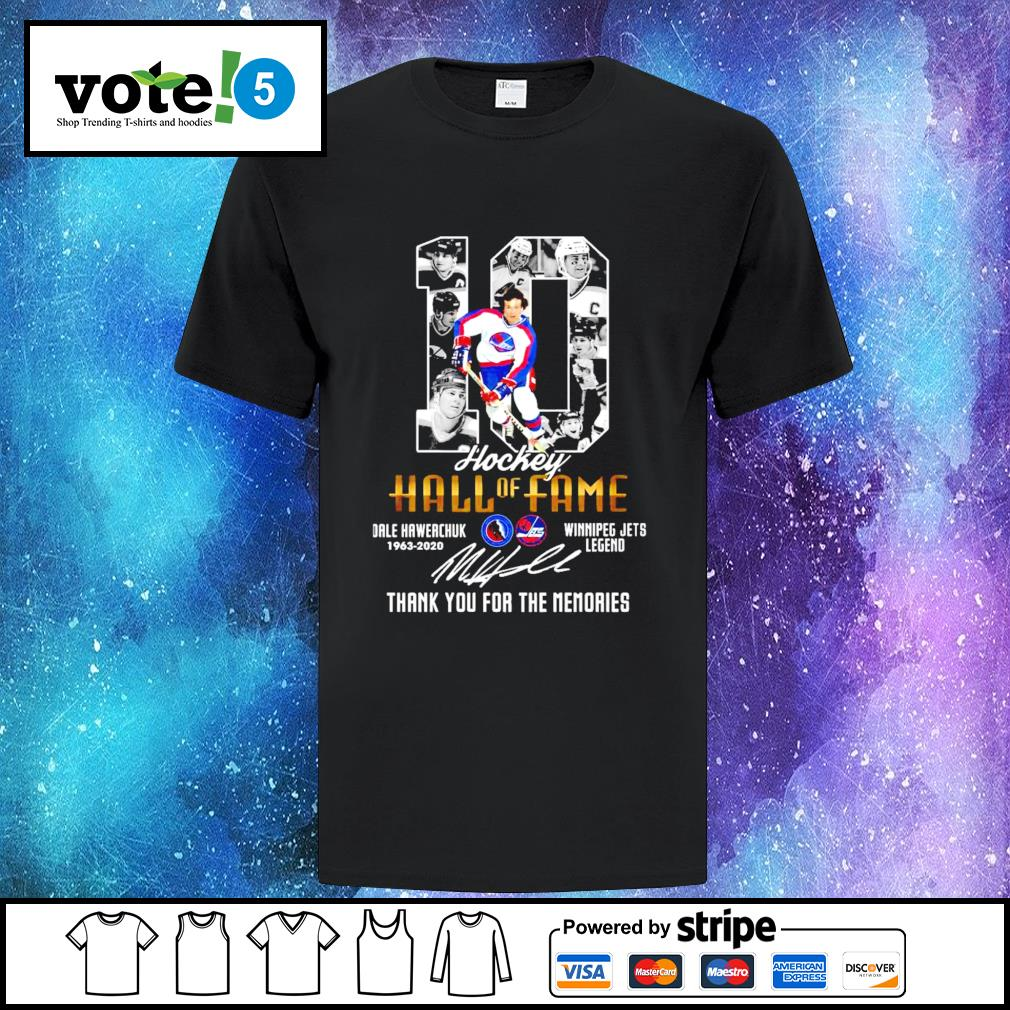 10 Hockey Hall of Fame thank you for the memories shirt