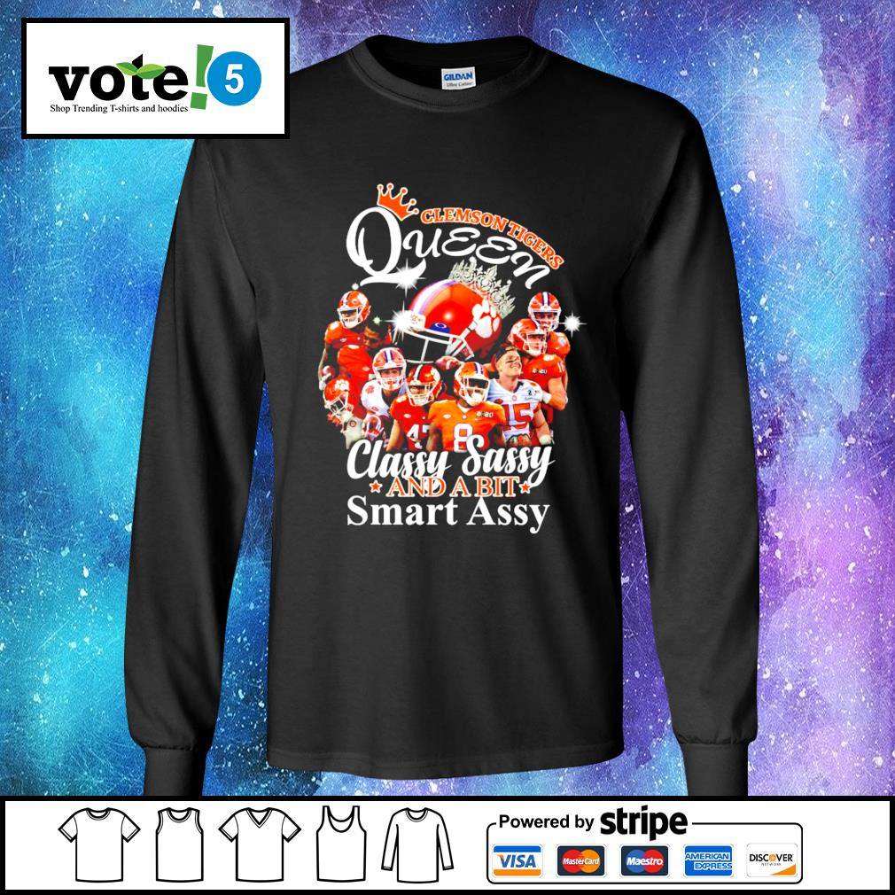 Clemson Tigers Queen classy sassy and a bit smart assy s Long-Sleeves-Tee