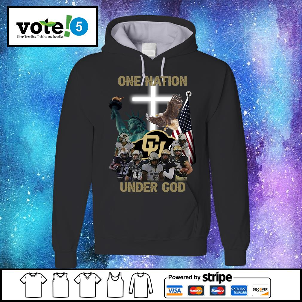Colorado Buffaloes one nation under god s Hoodie