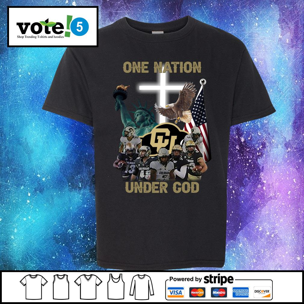 Colorado Buffaloes one nation under god s Kid-T-shirt