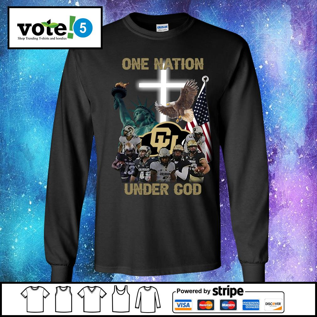 Colorado Buffaloes one nation under god s Long-Sleeves-Tee