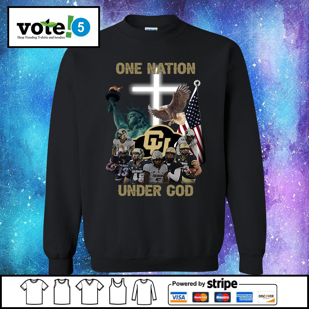 Colorado Buffaloes one nation under god s Sweater