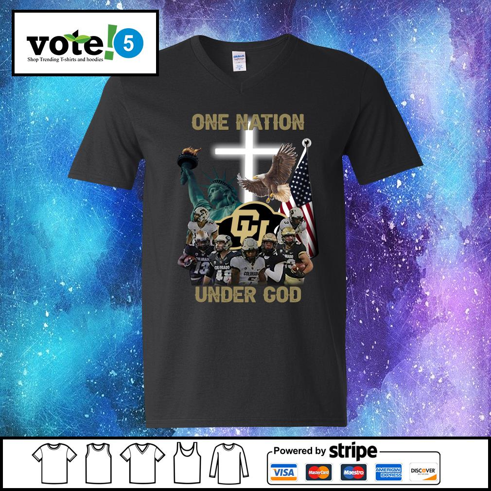 Colorado Buffaloes one nation under god s V-neck-T-shirt